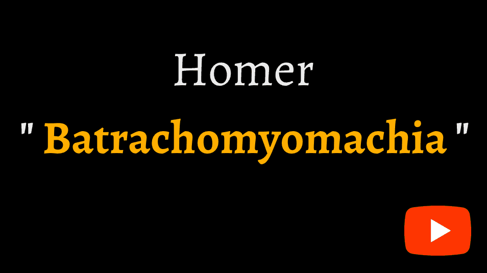 video sample of Homer's Batrachomyomachia, or Battle of frogs and mice, on YouTube