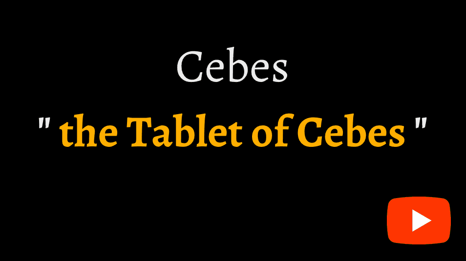video sample of the Tablet of Cebes on YouTube