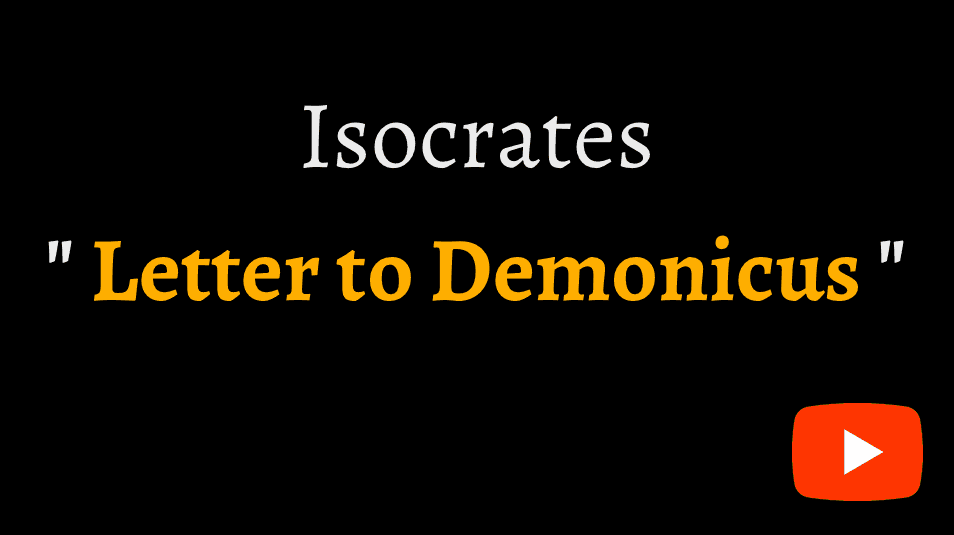 video sample of Lysias's 'Letter to Demonicus' on YouTube