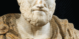 head of Aristotle in marble